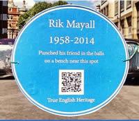 Rik Mayall Memorial Bench Petition