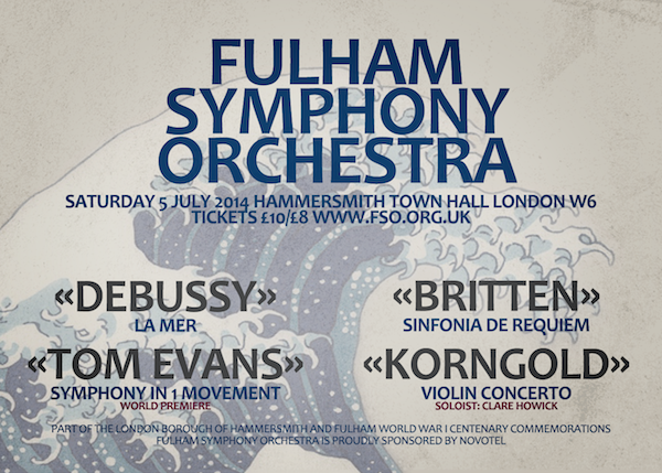 Fulham Symphony Orchestra Summer Concert – 5 July