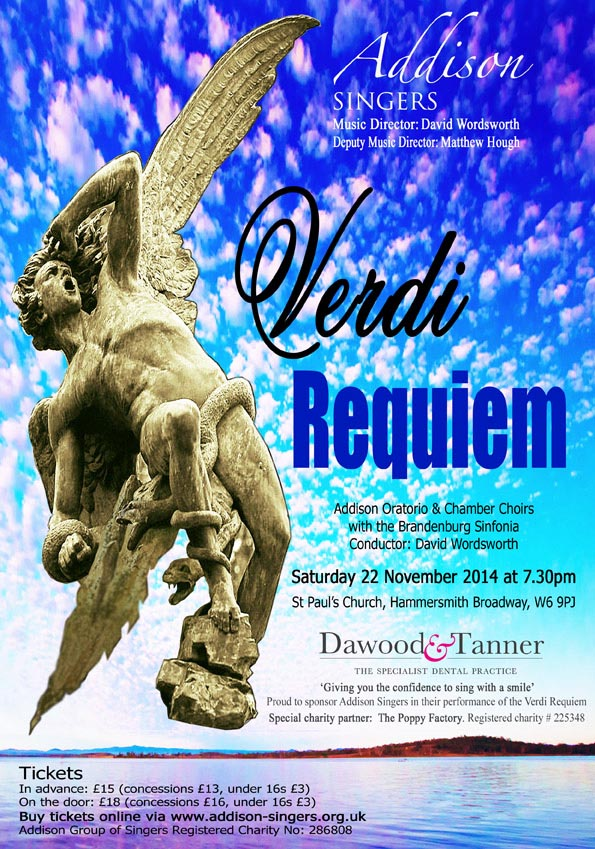 Verdi 'Requiem' – The Addison Singers – 22nd November