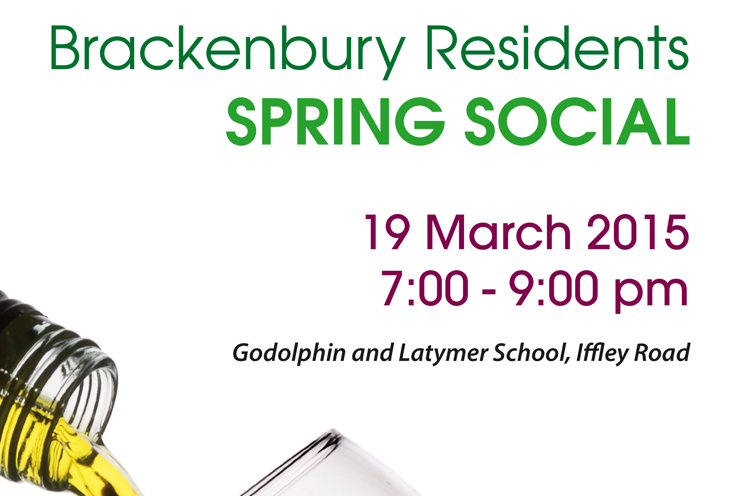 Brackenbury Residents Spring Social 19 March