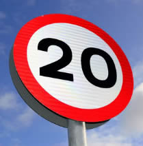 20mph speed limit failure