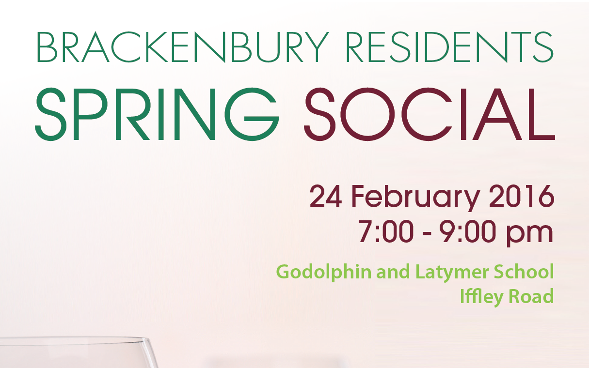 Brackenbury Residents Spring Social February 24th