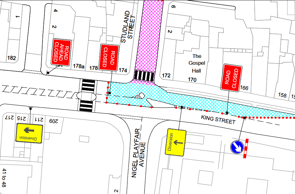 Studland Street closure 26-27 July