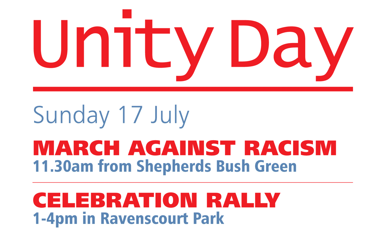 Unity Day on Sunday 17 July