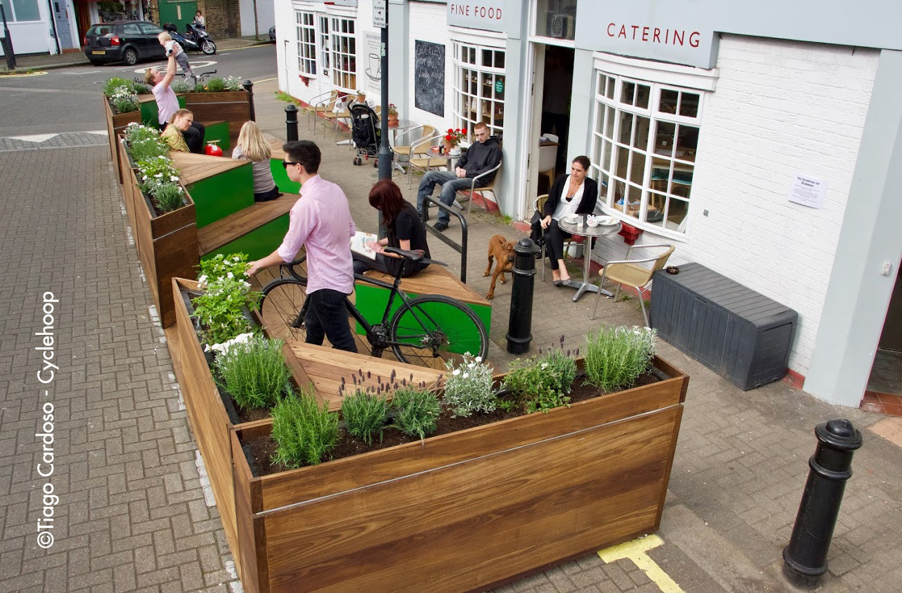 The Brackenbury Parklet is finally here!