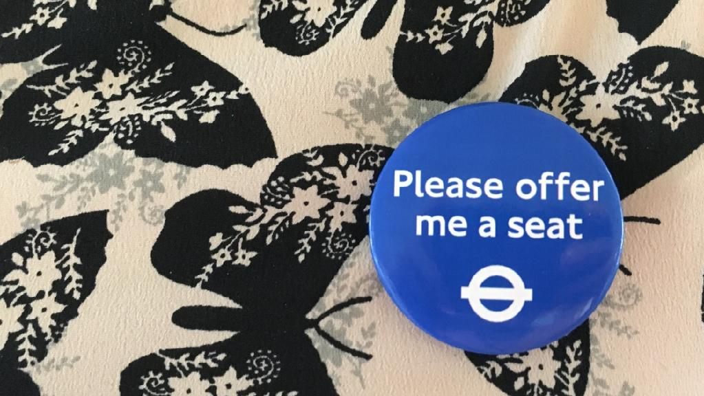 Badge Saying 'Please Offer Me a Seat' Now Available